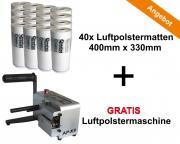 Aircopack Starterkit Gratis Maschine AP-X3 Luftpolstermaschine all-in-one Lösung 40x Luftpolstermatte 7 Kammern 400 mm x 330 mm **