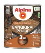Alpina Bangkirai-Pflege Holz-Öl für Gartenhölzer 750ml 3in1 imprägniert, frischt auf, pflegt