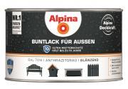 Alpina Buntlack für Außen Anthrazitgrau (RAL 7016) glänzend 300 ml