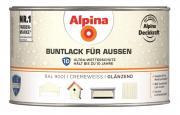 Alpina Buntlack für Außen Cremeweiß (RAL 9001) glänzend 300 ml