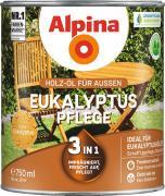 Alpina Eukalyptus-Pflege Holz-Öl für Gartenhölzer 0,75L 3in1 imprägniert, frischt auf, pflegt