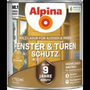 Alpina Fenster- und Türen-Schutz Blockfeste Holzlasur Eiche Hell 750ml