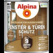 Alpina Fenster- und Türen-Schutz Blockfeste Holzlasur Nussbaum 750ml