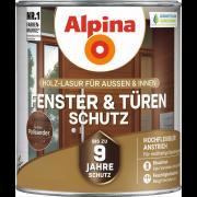 Alpina Fenster- und Türen-Schutz Blockfeste Holzlasur Palisander 2,5L