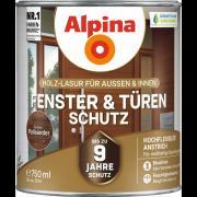 Alpina Fenster- und Türen-Schutz Blockfeste Holzlasur Palisander 750ml