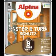 Alpina Fenster- und Türen-Schutz Blockfeste Holzlasur Teak 2,5L