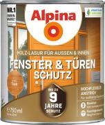 Alpina Fenster- und Türen-Schutz Blockfeste Holzlasur Teak 750ml