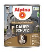 Alpina Holz-Lasur für Außen Dauer-Schutz Basalt 750ml
