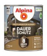 Alpina Holz-Lasur für Außen Dauer-Schutz Ebenholz 750ml