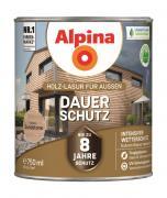 Alpina Holz-Lasur für Außen Dauer-Schutz Sandstone 750ml