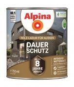 Alpina Holz-Lasur für Außen Dauer-Schutz Graphit 750ml