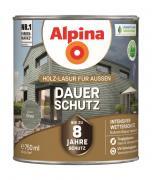 Alpina Holz-Lasur für Außen Dauer-Schutz Grau 750ml