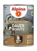 Alpina Holz-Lasur für Außen Dauer-Schutz Grau 2,5 L