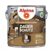 Alpina Holz-Lasur für Außen Dauer-Schutz Nussbaum 4 L