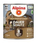 Alpina Holz-Lasur für Außen Dauer-Schutz Nussbaum 750ml