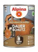 Alpina Holz-Lasur für Außen Dauer-Schutz Teak 2,5 L