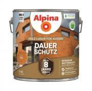 Alpina Holz-Lasur für Außen Dauer-Schutz Teak 4 L