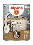 Alpina Holz-Lasur für Außen Dauer-Schutz Weiß 2,5 L