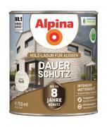 Alpina Holz-Lasur für Außen Dauer-Schutz Weiß 750ml