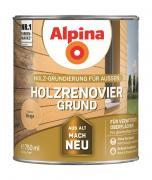 Alpina Holzrenovier-Grund Holz-Grundierung für Außen Beige 750ml