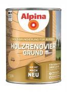 Alpina Holzrenovier-Grund Holz-Grundierung für Außen Beige 2,5 L