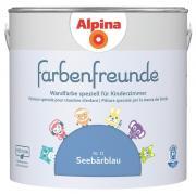 Alpina Innenfarbe Wandfarbe Farbenfreunde Nr. 12 Seebärblau 2,5 L Kinderzimmer