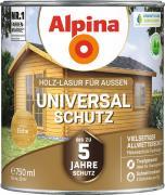 Alpina Universal-Schutz Vielseitige Holz-Lasur mit bis zu 5 Jahren Wetterschutz Eiche 750ml