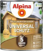 Alpina Universal-Schutz Vielseitige Holz-Lasur mit bis zu 5 Jahren Wetterschutz Eiche hell 2,5L
