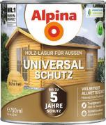 Alpina Universal-Schutz Vielseitige Holz-Lasur mit bis zu 5 Jahren Wetterschutz Eiche hell 750ml