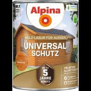 Alpina Universal-Schutz Vielseitige Holz-Lasur mit bis zu 5 Jahren Wetterschutz Kastanie 2,5L