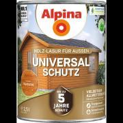 Alpina Universal-Schutz Vielseitige Holz-Lasur mit bis zu 5 Jahren Wetterschutz Kastanie 750ml