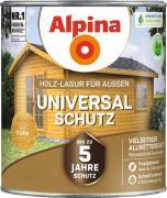 Alpina Universal-Schutz Vielseitige Holz-Lasur mit bis zu 5 Jahren Wetterschutz Kiefer 2,5L