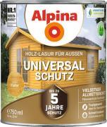 Alpina Universal-Schutz Vielseitige Holz-Lasur mit bis zu 5 Jahren Wetterschutz Kiefer 750ml