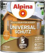 Alpina Universal-Schutz Vielseitige Holz-Lasur mit bis zu 5 Jahren Wetterschutz Mahagoni 750ml