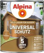 Alpina Universal-Schutz Vielseitige Holz-Lasur mit bis zu 5 Jahren Wetterschutz Palisander 2,5L