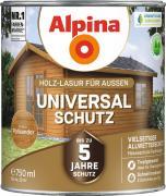 Alpina Universal-Schutz Vielseitige Holz-Lasur mit bis zu 5 Jahren Wetterschutz Palisander 750ml