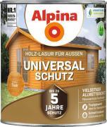 Alpina Universal-Schutz Vielseitige Holz-Lasur mit bis zu 5 Jahren Wetterschutz Teak 2,5L