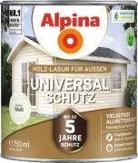 Alpina Universal-Schutz Vielseitige Holz-Lasur mit bis zu 5 Jahren Wetterschutz Weiß 750ml