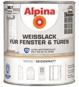 Alpina Weißlack für Fenster & Türen seidenmatt 2 L