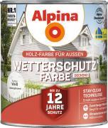 Alpina Wetterschutzfarbe Holzfarbe deckend Weiß 2,5 Liter