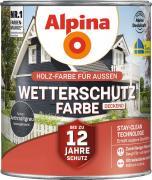 Alpina Wetterschutzfarbe Holzfarbe deckend Anthrazitgrau 2,5L