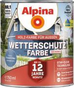 Alpina Wetterschutzfarbe Holzfarbe deckend Friesenblau 750ml