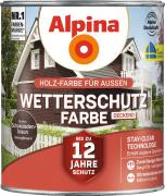 Alpina Wetterschutzfarbe Holzfarbe deckend Schokoladenbraun 2,5L