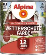 Alpina Wetterschutzfarbe Holzfarbe deckend Schwedenrot 2,5L