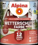 Alpina Wetterschutzfarbe Holzfarbe deckend Schwedenrot 750ml