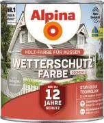Alpina Wetterschutzfarbe Holzfarbe deckend Steingrau 2,5L