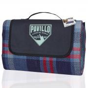 Bestway Picknickdecke Winder Travel Mat, 175x135cm, blau-rot kariert, Tragebeutel