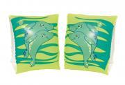 Bestway Schwimmflügel Schwimmhilfe Dolphin Delfin 2 Luftkammern aufblasbar 23 x 15 cm