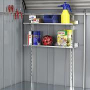 Biohort Regale-Set StoreMax 190, 74 x 21 cm (2 Stück) inkl. 2 Regalsteher