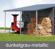 Biohort Seitendach für Gerätehaus Europa, dunkelgrau-metallic, 150 x 300 cm
